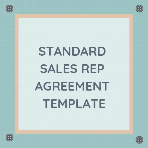 Standard Sales Rep Agreement Template